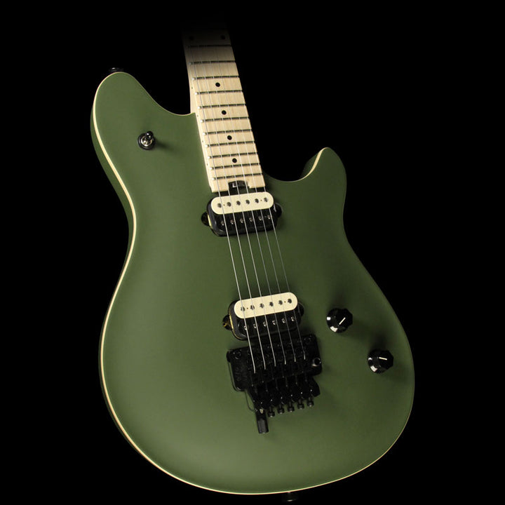 Used 2015 EVH Van Halen Wolfgang Special Electric Guitar Satin Olive Green WG153899M