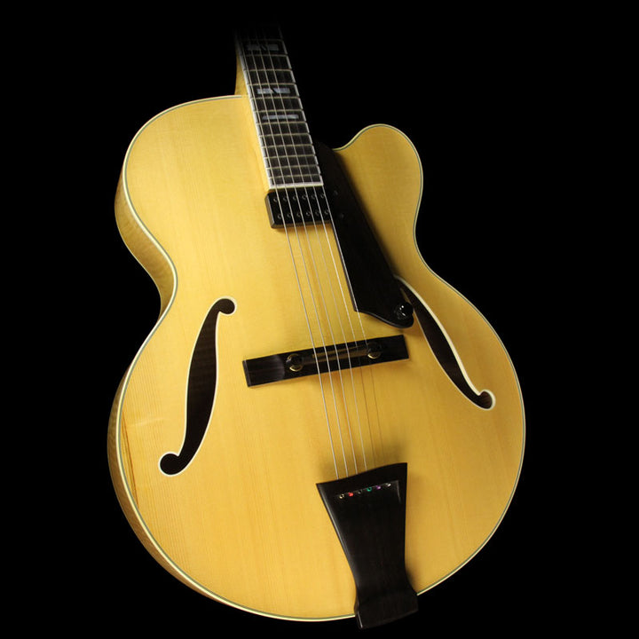 Used Trenier Model 17 Archtop Electric Guitar Natural 1035