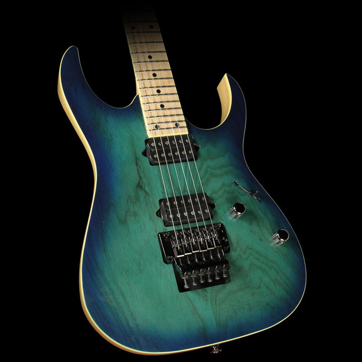 Used 2015 Ibanez RG Prestige RG652AHM Electric Guitar Nebula Green Burst F1524855