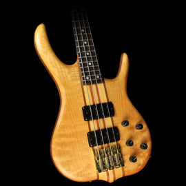 Used Ken Smith BSR-4 Flame Maple Top Electric Bass Guitar Natural
