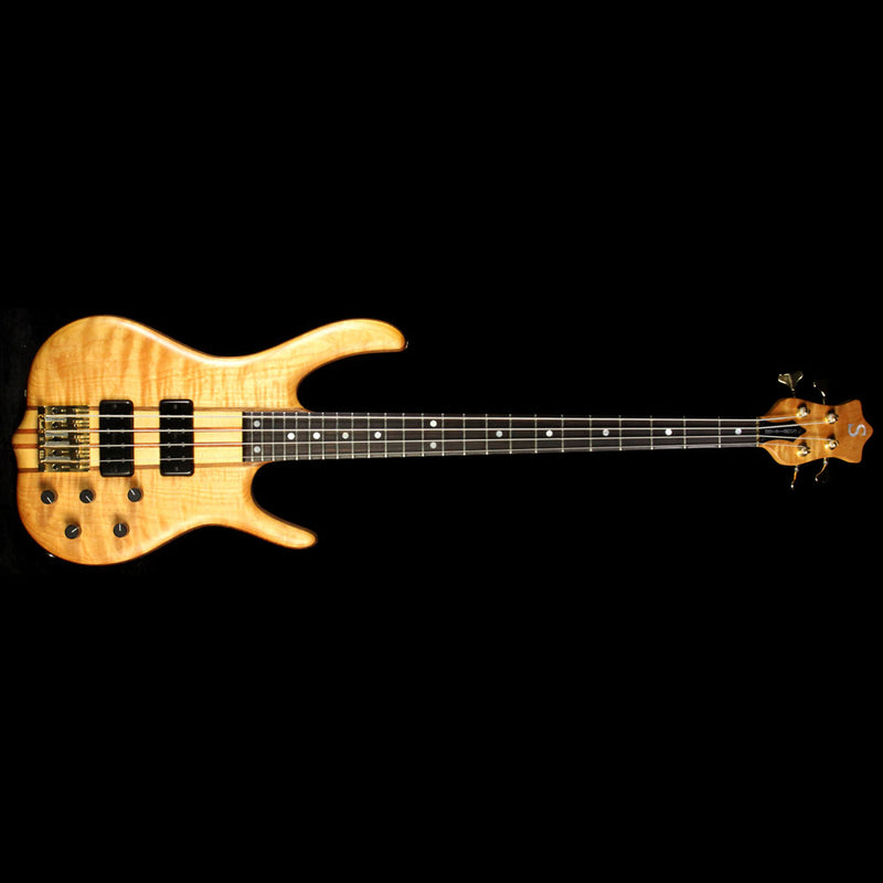 Used Ken Smith BSR-4 Flame Maple Top Electric Bass Guitar Natural 4GN198101F