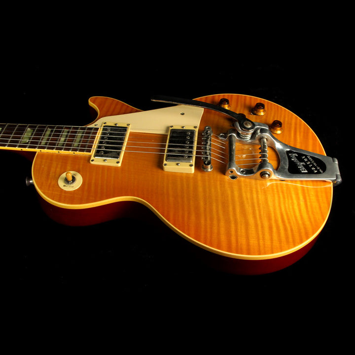 Used 1992 Gibson Les Paul Classic Electric Guitar Amber Burst 25932