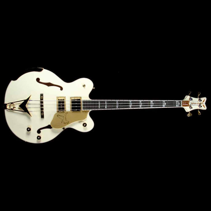 Gretsch G6136B-TP Tom Petersson Signature 4-String Falcon Bass Aged White 2414404805
