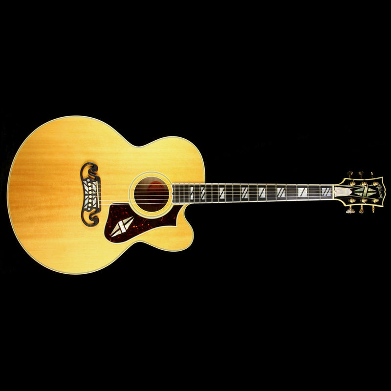 Used 2002 Gibson Custom Shop Super 200 Acoustic Guitar Natural 2350002
