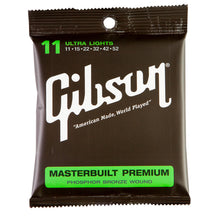 Gibson Masterbuilt Premium Acoustic Strings (Ultra Light 11-52)