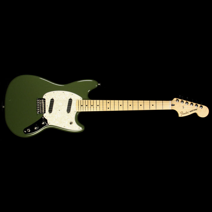 Used 2016 Fender Mustang Electric Guitar Olive 0144042598
