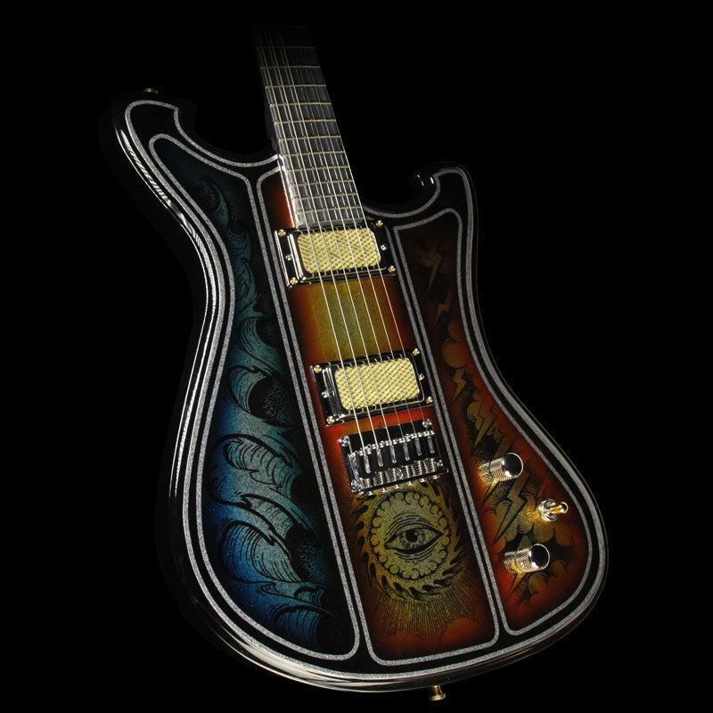 wild custom guitars wildmaster alu flake electric guitar with aluminum the music zoo. Black Bedroom Furniture Sets. Home Design Ideas
