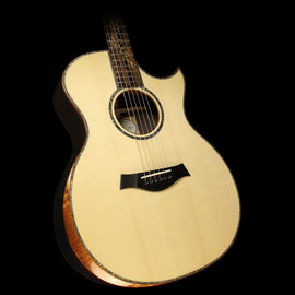 Taylor Custom BTO Grand Auditorium Milagro Brazilian Rosewood and European Spruce Acoustic/Electric Guitar Natural