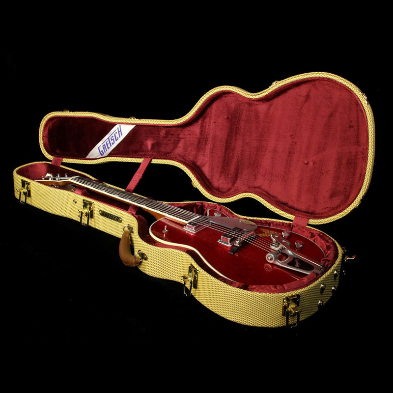 Gretsch Custom Shop 1958 G6129TCS Sparkle Jet Relic Electric Guitar Red Sparkle UC17061524