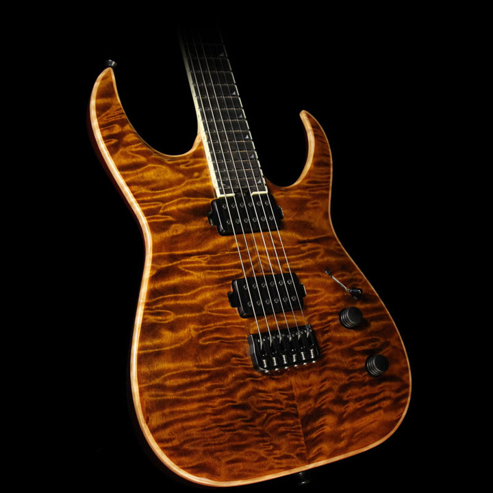 Jackson Misha Mansoor Signature Juggernaut HT6 Quilt Top Electric Guitar Amber Tiger Eye JMM1610184