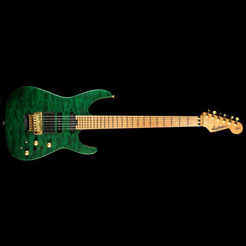 Jackson USA PC1 Matte Phil Collen Electric Guitar Trans Green XN009460