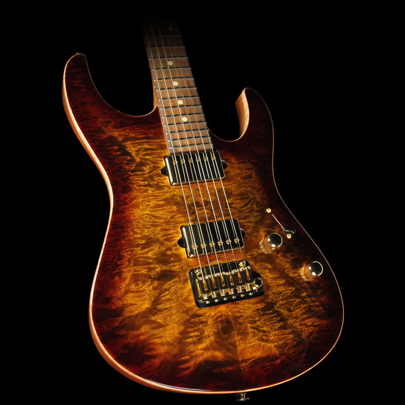 Used 2015 Suhr Modern Carve Top Electric Guitar Bengal Burst 28481