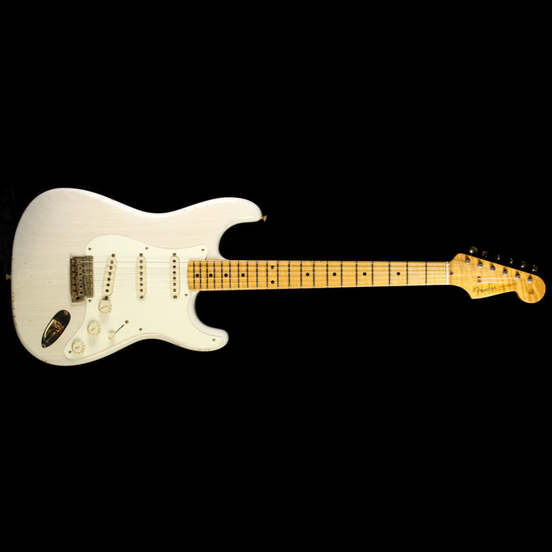 Used 2011 Fender Custom Shop Limited '56 Stratocaster Relic Electric Guitar Olympic White CZ518104