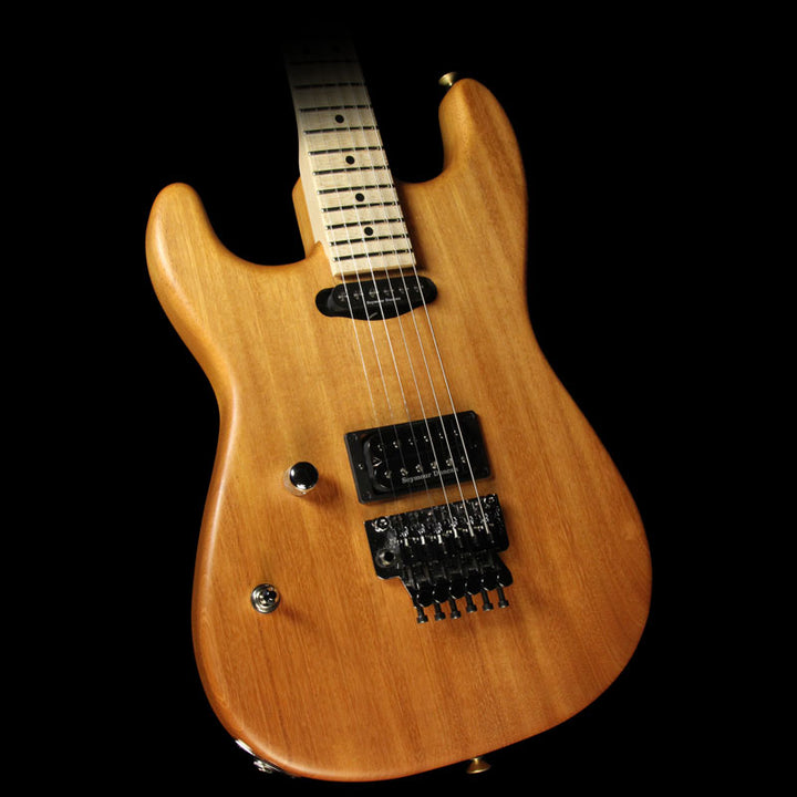Used 2016 Charvel Custom Shop Music Zoo Exclusive Natural Series San Dimas Mahogany Left-Handed Electric Guitar Natural C10159