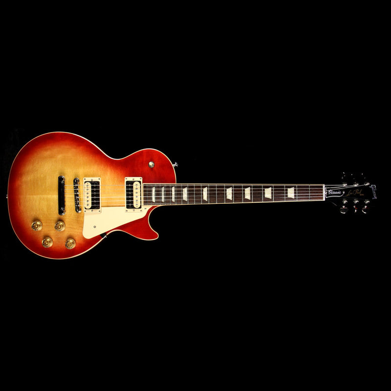 Used 2017 Gibson Les Paul Classic T Electric Guitar Heritage Cherry Sunburst 170052398