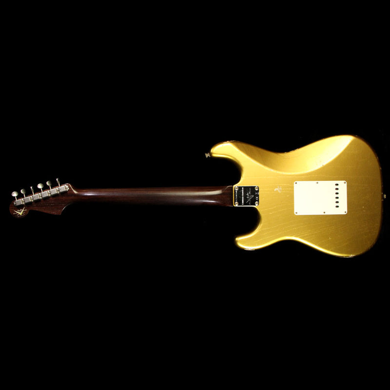 Fender Custom 2017 NAMM Limited Dual Mag Stratocaster Relic Electric Guitar Aged HLE Gold CZ530760