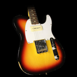 Fender Custom Shop 1963 Custom Telecaster P-90 Relic Electric Guitar Faded 3-Tone Sunburst