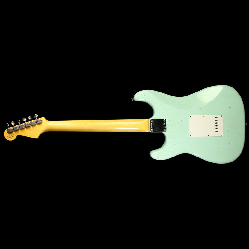 Fender Custom Shop 1963 Stratocaster Journeyman Relic Electric Guitar Faded Sonic Surf Green R89751