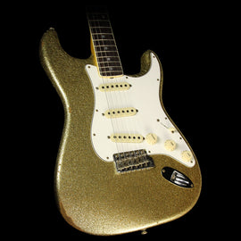 Fender Custom Shop 1967 Stratocaster Reissue Relic  Electric Guitar Gold Sparkle