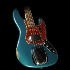 Fender Custom Shop '62 Jazz Bass Relic Electric Bass Faded Turquoise Metallic