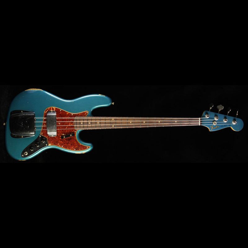 Fender Custom Shop '62 Jazz Bass Relic Electric Bass Faded Turquoise Metallic R87882