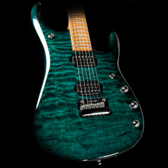 Ernie Ball Music Man JP15 John Petrucci Electric Guitar Quilt Top Teal