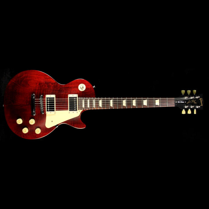 Used 2013 Gibson Les Paul Studio 60's Tribute Min-Etune Electric Guitar Wine Red 116230618