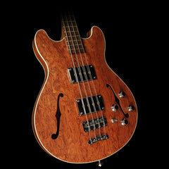 Used 2009 Warwick Star Bass II Bubinga Hollowbody Electric Bass Guitar Natural