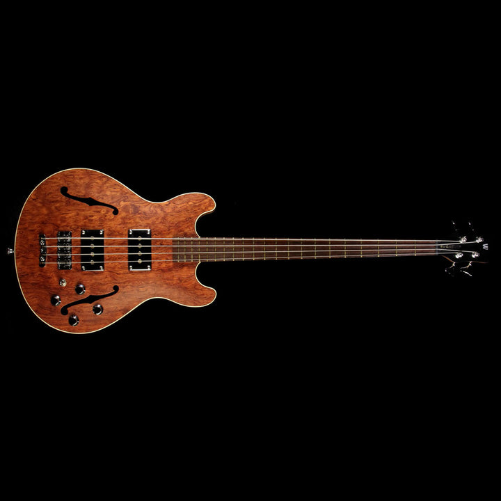 Used 2009 Warwick Star Bass II Bubinga Hollowbody Electric Bass Guitar Natural B14915409