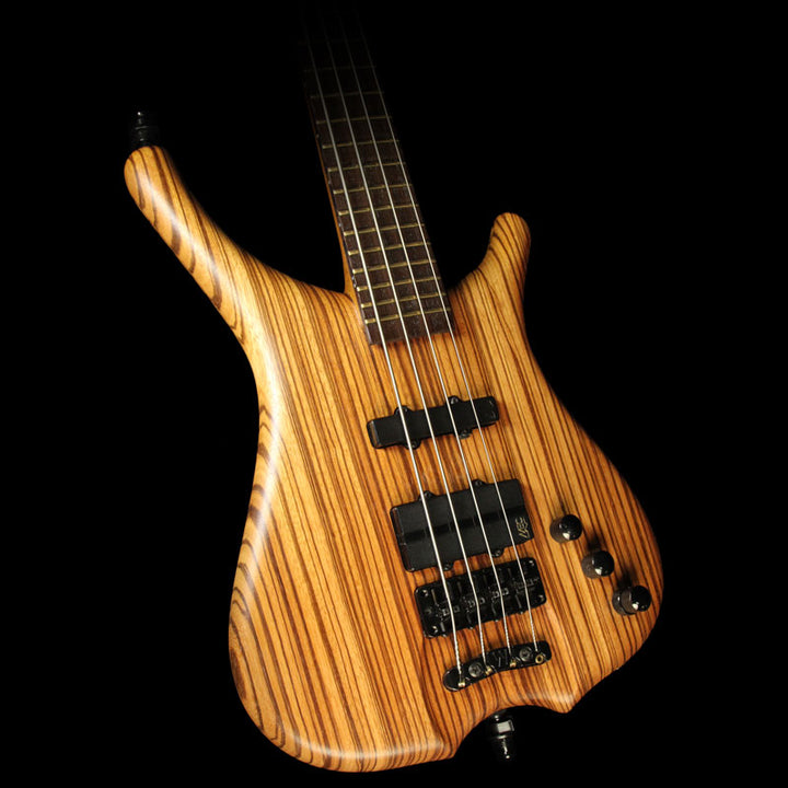 Used 2002 Warwick Infinity SN TCS Electric Bass Guitar Natural F-093378-02
