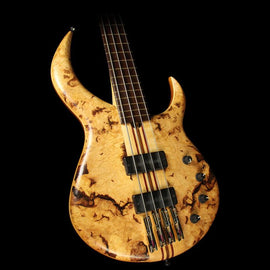 Used Sukop 4-String DC-4 Fretless Electric Bass Guitar Burl Maple