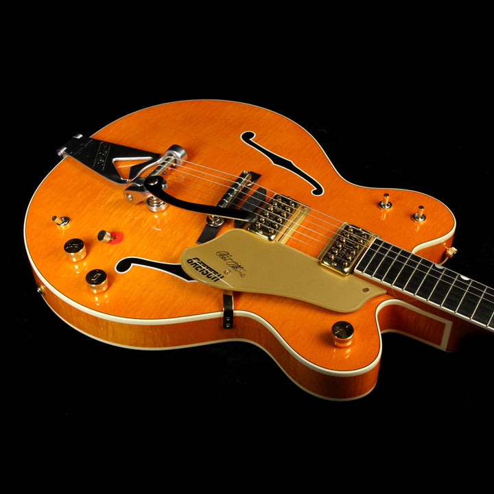 Used 2012 Gretsch G6120DC Chet Atkins Double Cutaway Electric Guitar Orange JT12104209