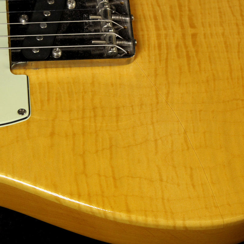 Used 1995 Fender Made in Japan Foto-Flame Telecaster Electric Guitar Natural