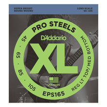 D'Addario ProSteels Electric Bass Strings (45-105)