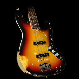 Used 2017 Fender Custom Shop Jaco Pastorius Tribute Jazz Bass 3-Tone Sunburst