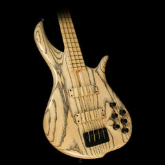 Used F Bass BN4 4-String Electric Bass Guitar Natural Ash