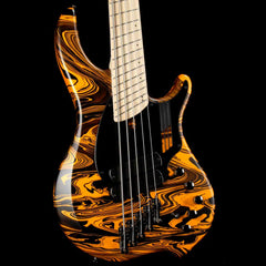 Dingwall NG2 Adam Nolly Getgood Signature Fan Fret 5-String Bass Lamborghini Matte Orange Swirl