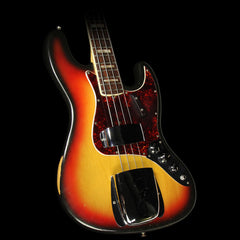 Used 1973 Fender Jazz Bass Electric Bass 3-Tone Sunburst