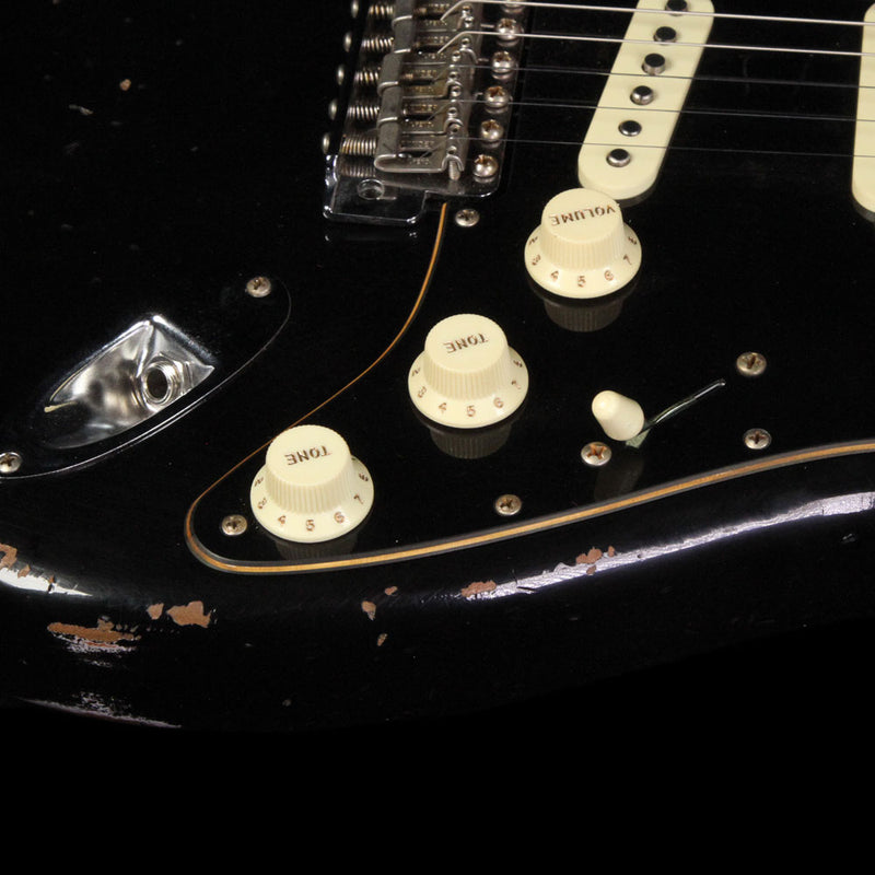 Fender Custom Shop Limited Edition Dual Mag Roasted Stratocaster Relic Electric Guitar Black CZ533800