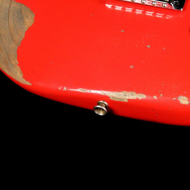 Fender Custom Shop Limited Edition 1959 Stratocaster Heavy Relic Electric Guitar Aged Fiesta Red