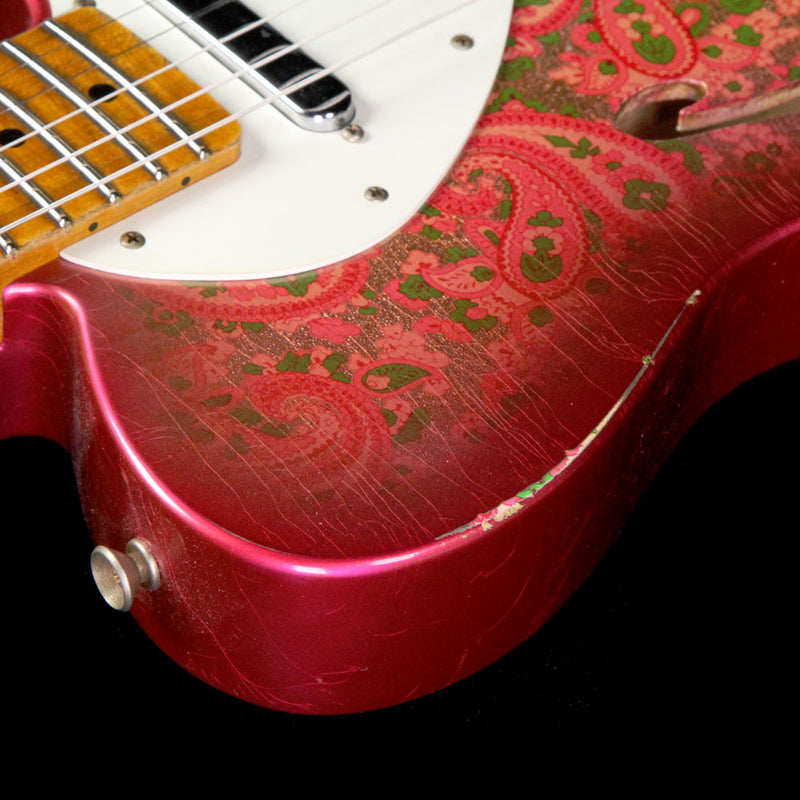 Fender Custom Shop Limited Edition Pink Paisley 50's Thinline Telecaster Relic Electric Guitar R17543