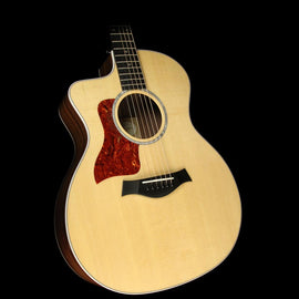 Used Taylor 214ce DLX LH Grand Auditorium Acoustic/Electric Guitar Natural