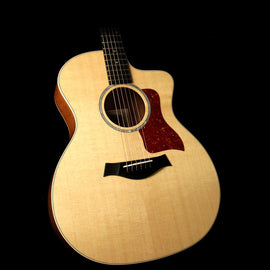 Taylor 214ce Deluxe Grand Auditorium Acoustic-Electric Guitar Natural Figured Sapele