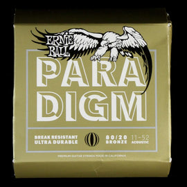 Ernie Ball Paradigm 80/20 Bronze Light Acoustic Guitar Strings 11-52
