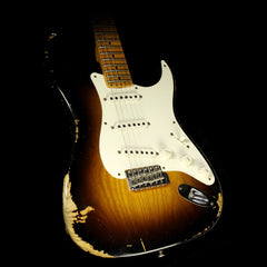 Used 2015 Fender Custom Shop Heavy Relic 1956 Stratocaster Electric Guitar Two-Tone Sunburst