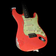 Used Fender Custom Shop Masterbuilt John Cruz Limited Edition Gary Moore Stratocaster Relic Electric Guitar Fiesta Red