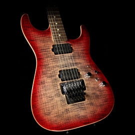 Used 2017 Tom Anderson Guitarworks Drop Top Electric Guitar Natural Black to T-Red Burst