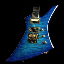 Used Jackson Custom Shop Kelly Electric Guitar Trans Blue Quilt Top