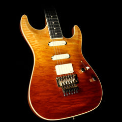 Used 2014 Suhr Standard Carve Top Electric Guitar Trans Honey/Cherry