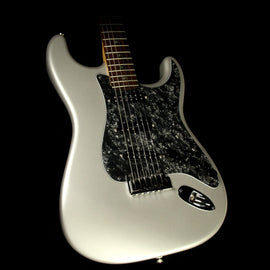 Used 2004 Fender American Deluxe Stratocaster Electric Guitar Chrome Silver